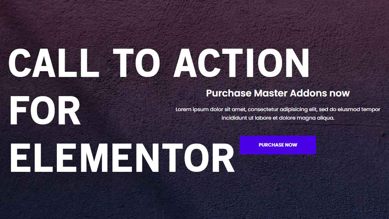 Call To Action for Elementor Page Builder