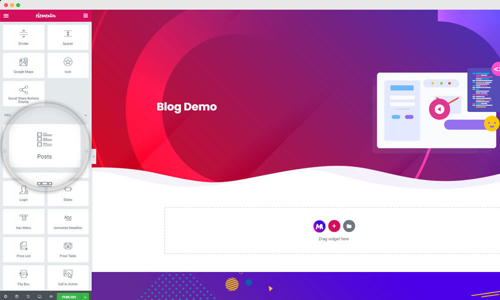 Create Blog page with Elementor Pro Posts Widget