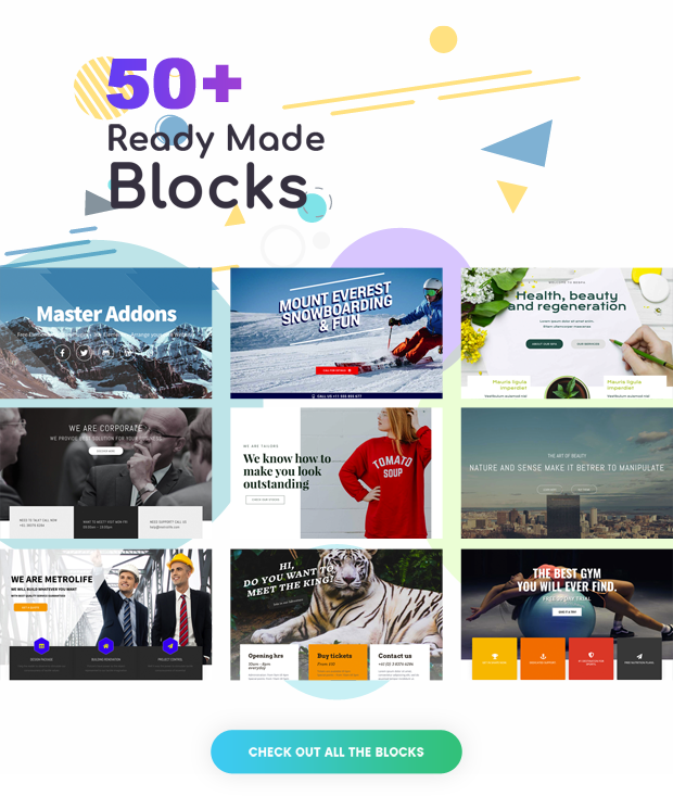 50+ Reade made Sections/Blocks