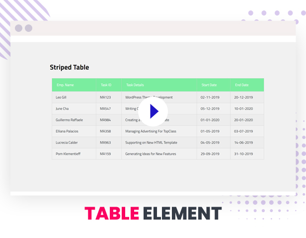Table Element by Master Addons
