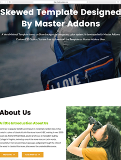 Creative Landing Page For Elementor