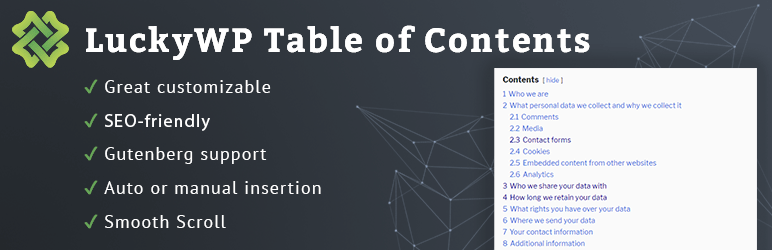 Best Table Of Contents Plugin